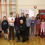 Colin McNulty and the Home Ed kids learning personal protectoin