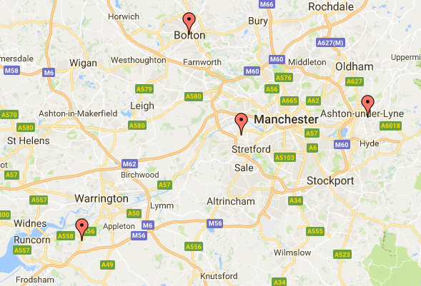 Locations of Manchester self defence classes