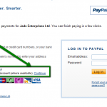 Credit and debit card payment on Paypal