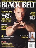 Tony Blaur on Black Belt Magazine Cover